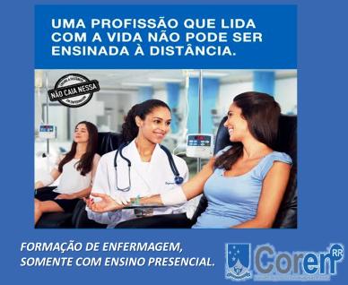 FORMAÇÃO DE ENFERMAGEM - NÃO EAD